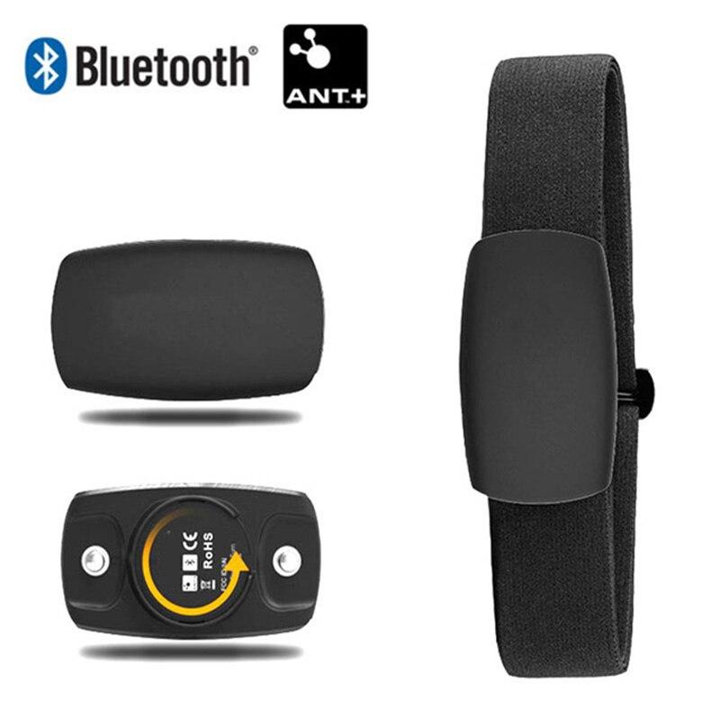 Heartbeat Bluetooth & ANT+ para Garmin Polar Wahoo RUNTASTIC STRAVA ENDOMONDO TomTom Chest Strap Heart Rate Monitor HRM Sensor